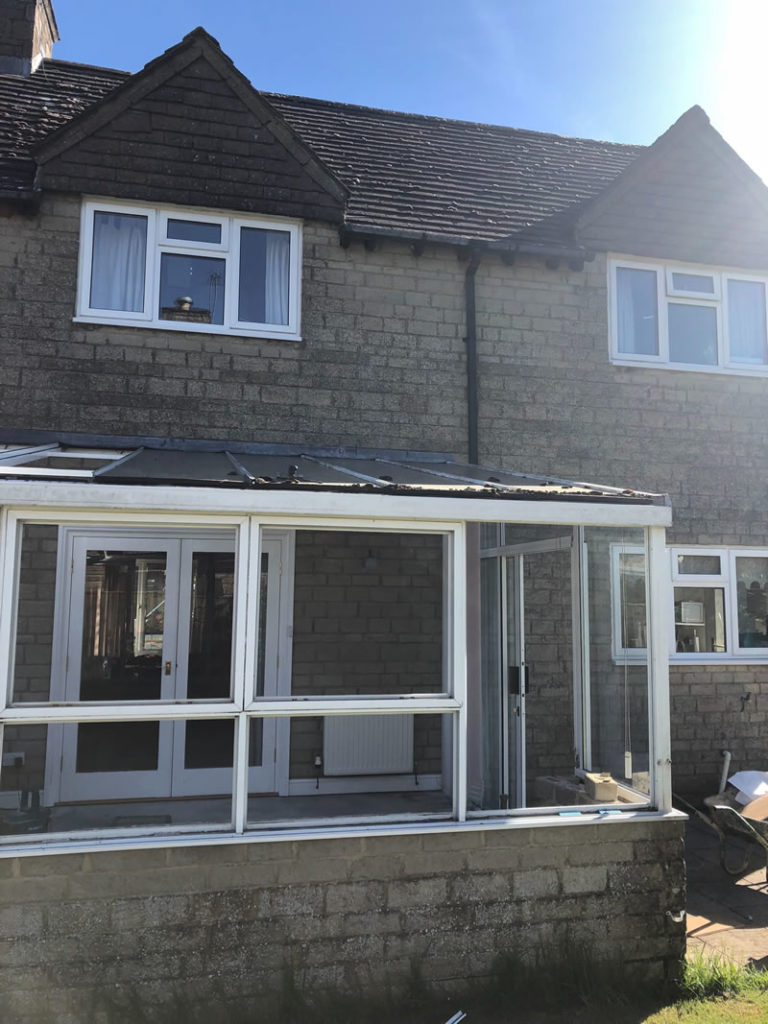 Old Damp Conservatory-demolished-and-replaced-with-a-modern-kitchen-dining-room-extension.